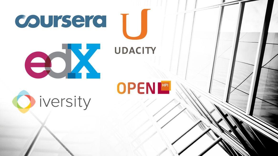 Logos wichtiger MOOC-Anbieter